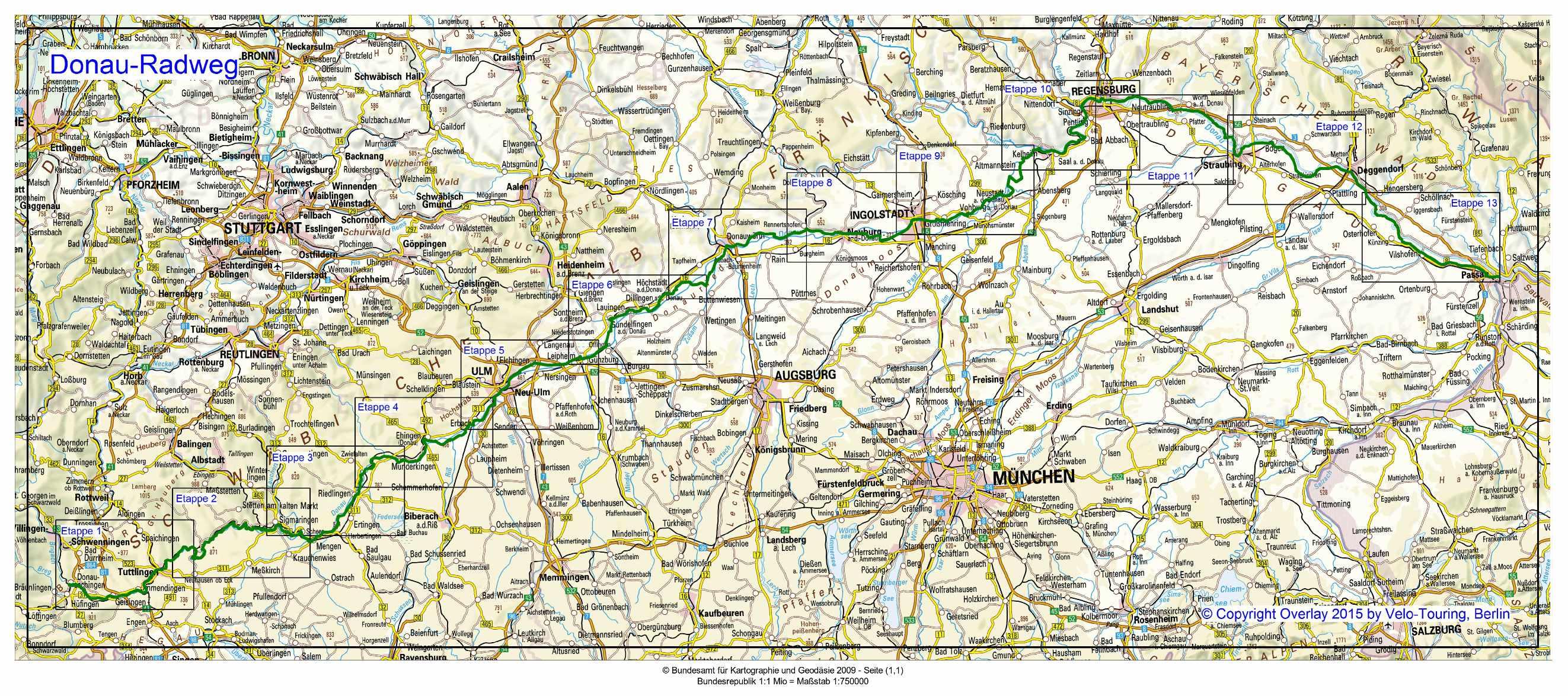 Velo Touring Reiseführer :: Donau Radweg von